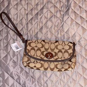 NWT Coach Park Signature Large Flap purse